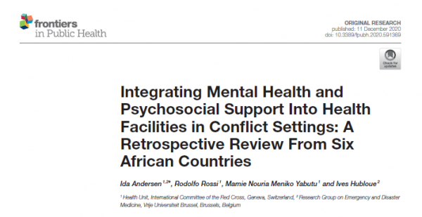 Integrating Mental Health and Psychosocial Support Into Health Facilities in Conflict Settings: A Retrospective Review From Six African Countries